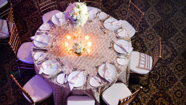 overhead shot of table setting